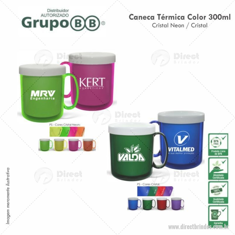 Caneca Color 300ml Personalizada Barato