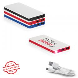 Carregador Power Bank Bateria Portátil ABS. com Led 11.000 mAh Personalizado