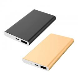 Carregador Power Bank bateria Slim Metal 5000mAh Personalizado