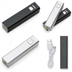 Carregador Slim Tubo Metal  USB Power Bank Personalizado