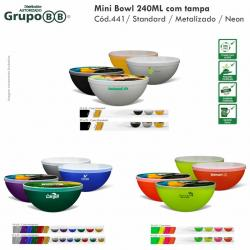 Mini Bowl 240ml com tampa Personalizado Barato